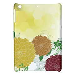 Abstract Flowers Sunflower Gold Red Brown Green Floral Leaf Frame Apple Ipad Mini Hardshell Case by Alisyart