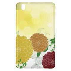 Abstract Flowers Sunflower Gold Red Brown Green Floral Leaf Frame Samsung Galaxy Tab Pro 8 4 Hardshell Case by Alisyart