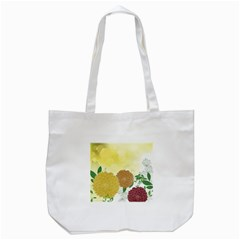 Abstract Flowers Sunflower Gold Red Brown Green Floral Leaf Frame Tote Bag (white) by Alisyart