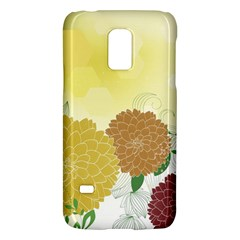 Abstract Flowers Sunflower Gold Red Brown Green Floral Leaf Frame Galaxy S5 Mini by Alisyart