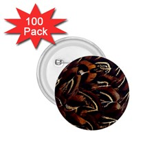 Feathers Bird Black 1 75  Buttons (100 Pack)  by Simbadda