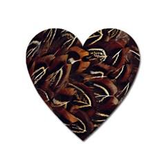 Feathers Bird Black Heart Magnet by Simbadda