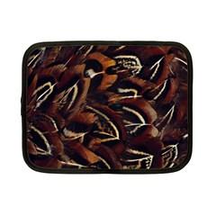 Feathers Bird Black Netbook Case (small)  by Simbadda