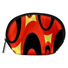 Circle Eye Black Red Yellow Accessory Pouches (medium)  by Alisyart