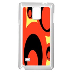 Circle Eye Black Red Yellow Samsung Galaxy Note 4 Case (white) by Alisyart