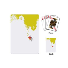 Fish Underwater Yellow White Playing Cards (mini)  by Simbadda