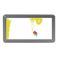 Fish Underwater Yellow White Memory Card Reader (mini) by Simbadda