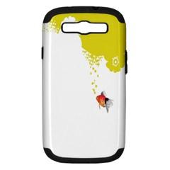Fish Underwater Yellow White Samsung Galaxy S Iii Hardshell Case (pc+silicone) by Simbadda
