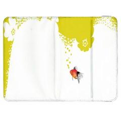 Fish Underwater Yellow White Samsung Galaxy Tab 7  P1000 Flip Case by Simbadda