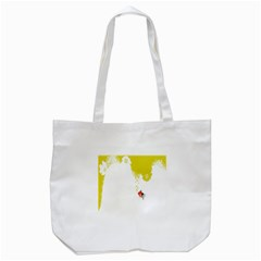 Fish Underwater Yellow White Tote Bag (white) by Simbadda