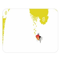 Fish Underwater Yellow White Double Sided Flano Blanket (Large)