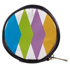 Chevron Wave Triangle Plaid Blue Green Purple Orange Rainbow Mini Makeup Bags by Alisyart
