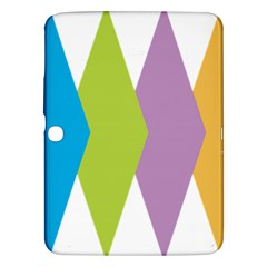 Chevron Wave Triangle Plaid Blue Green Purple Orange Rainbow Samsung Galaxy Tab 3 (10 1 ) P5200 Hardshell Case  by Alisyart