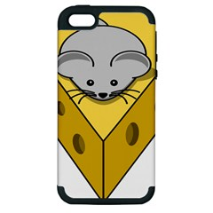 Cheese Mose Yellow Grey Apple Iphone 5 Hardshell Case (pc+silicone) by Alisyart