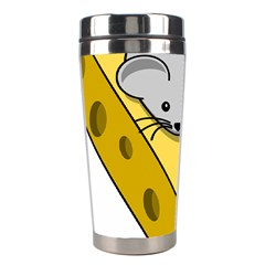 Cheese Mose Yellow Grey Stainless Steel Travel Tumblers by Alisyart
