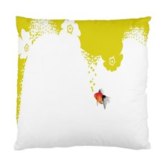 Fish Underwater Yellow White Standard Cushion Case (two Sides) by Simbadda