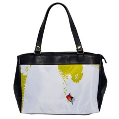 Fish Underwater Yellow White Office Handbags by Simbadda