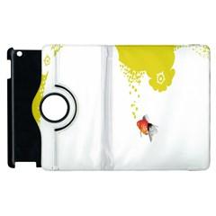 Fish Underwater Yellow White Apple Ipad 3/4 Flip 360 Case by Simbadda