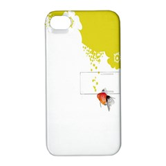 Fish Underwater Yellow White Apple Iphone 4/4s Hardshell Case With Stand by Simbadda