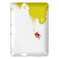 Fish Underwater Yellow White Kindle Fire Hdx Hardshell Case by Simbadda