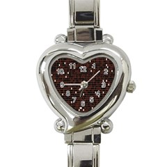 Cubes Small Background Heart Italian Charm Watch by Simbadda