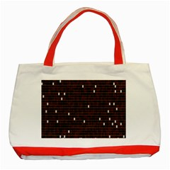 Cubes Small Background Classic Tote Bag (red) by Simbadda