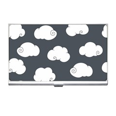 Cloud White Gray Sky Business Card Holders by Alisyart