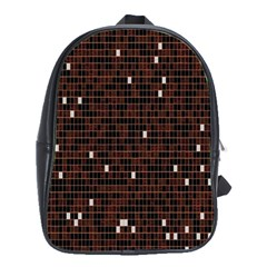 Cubes Small Background School Bags(large)  by Simbadda