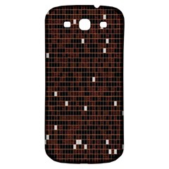 Cubes Small Background Samsung Galaxy S3 S Iii Classic Hardshell Back Case by Simbadda