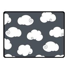 Cloud White Gray Sky Fleece Blanket (small) by Alisyart