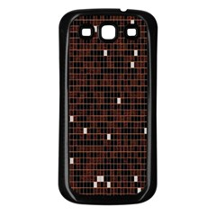 Cubes Small Background Samsung Galaxy S3 Back Case (black)
