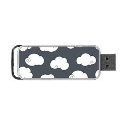 Cloud White Gray Sky Portable Usb Flash (one Side) by Alisyart