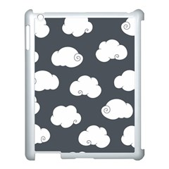 Cloud White Gray Sky Apple Ipad 3/4 Case (white) by Alisyart