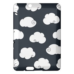 Cloud White Gray Sky Kindle Fire Hdx Hardshell Case by Alisyart
