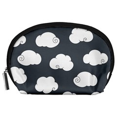 Cloud White Gray Sky Accessory Pouches (large)  by Alisyart