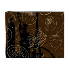 Coffe Break Cake Brown Sweet Original Cosmetic Bag (xl) by Alisyart