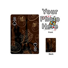 Coffe Break Cake Brown Sweet Original Playing Cards 54 (mini)  by Alisyart