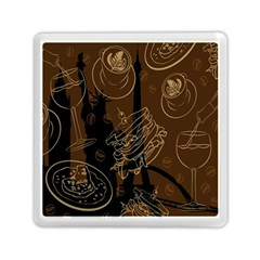 Coffe Break Cake Brown Sweet Original Memory Card Reader (square)  by Alisyart