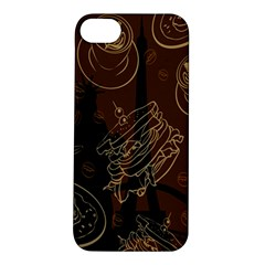 Coffe Break Cake Brown Sweet Original Apple Iphone 5s/ Se Hardshell Case by Alisyart