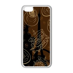 Coffe Break Cake Brown Sweet Original Apple Iphone 5c Seamless Case (white) by Alisyart