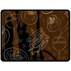 Coffe Break Cake Brown Sweet Original Double Sided Fleece Blanket (large)  by Alisyart