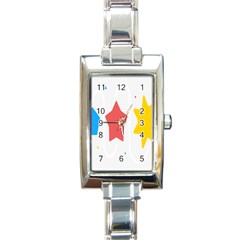 Evolution Jumsoft Star Rectangle Italian Charm Watch by Alisyart