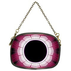 Circle Border Hole Black Red White Space Chain Purses (one Side)  by Alisyart
