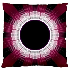 Circle Border Hole Black Red White Space Large Cushion Case (two Sides) by Alisyart