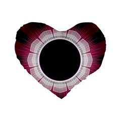Circle Border Hole Black Red White Space Standard 16  Premium Heart Shape Cushions by Alisyart