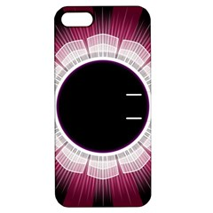 Circle Border Hole Black Red White Space Apple Iphone 5 Hardshell Case With Stand by Alisyart