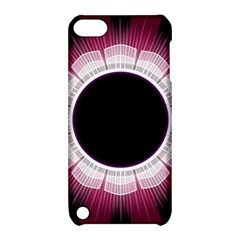 Circle Border Hole Black Red White Space Apple Ipod Touch 5 Hardshell Case With Stand by Alisyart