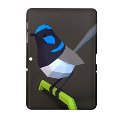 Animals Bird Green Ngray Black White Blue Samsung Galaxy Tab 2 (10 1 ) P5100 Hardshell Case  by Alisyart