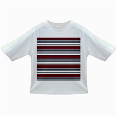 Fabric Line Red Grey White Wave Infant/toddler T Shirts by Alisyart