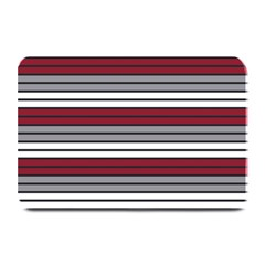 Fabric Line Red Grey White Wave Plate Mats by Alisyart